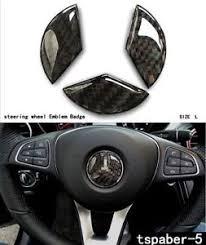 mercedes decal 45 mm carbon fiber steering wheel emblem badge cover decal sticker