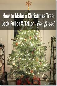 how to make a christmas tree look fuller and taller on a budget