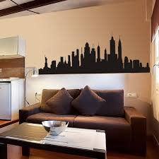 popular new york skyline wall mural buy cheap new york skyline new york city skyline silhouette wall sticker nyc vinyl family mural decor black china