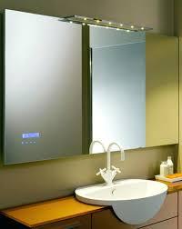 lighted framed mirror bathroom vanity glass lights makeup table