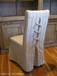 chair coverings tie back and corseted slipcovers a way to dress up plain