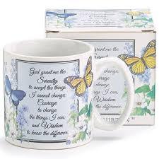 serenity prayer mug inspirational serenity prayer mug with butterflies and flowers