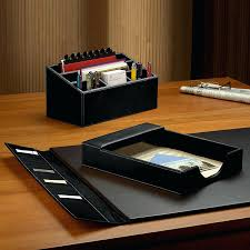 Desk Organizer Sets Leather Desk Accessories Leather Desk Sets Leather Desk