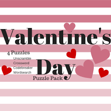 free valentine u0027s day printable puzzle pack word search code