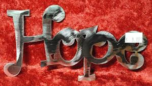 hope metal words metal signs inspirational words home decor