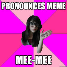 I Know Your Meme - idiot nerd girl know your meme