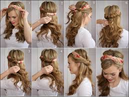 hair styles to cover wonderful diy tuck and cover half hairstyle