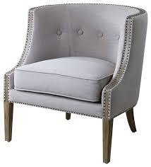 modern livingroom chairs lyla modern gray hammered barrel back chair modern