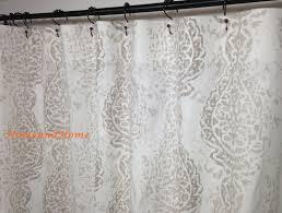 Unique Fabric Shower Curtains Shower Curtain Fabric Shower Curtain Ecru Taupe White 72 X 84