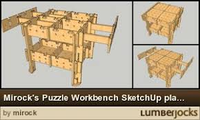 mirock u0027s puzzle workbench sketchup plans by mirock lumberjocks
