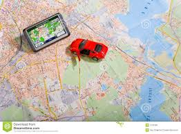 navigation map gps navigation system on a traveling map stock photo image 7216160