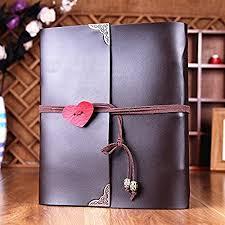 leather memory book scrapbook mamachu leather photo album diy retro memory book