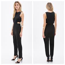 forever 21 jumpsuits 17 forever 21 cut out black sleeveless jumpsuit