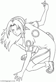 naruto coloring pages sakura coloring home