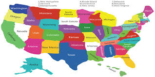 The United States Map Map Of The United States America With Full State Names Showy A
