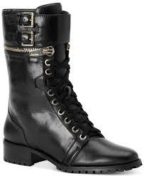 moto boots calvin klein ramira moto boots in black lyst