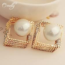 pearl earrings stud 2017 party jewelry 18k gold new pearl earrings stud women