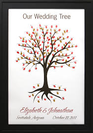 wedding trees wedding tree no 2 thumbprint guestbooks thumbprint wedding trees