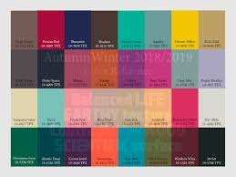 pantone colors for 2017 autumn winter 2018 2019 trend forecasting is a trend color guide