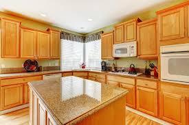 pièce de cuisine de couleur de miel image stock image du réel