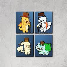 pikachu squirtle pokemon modern cartoon a4 art print poster wall