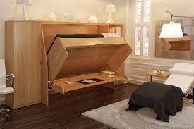 lit escamotable bureau intégré enfin du mobilier escamotable multifonctionnel