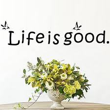 online get cheap english good aliexpress com alibaba group life is good wall sticker family love inspirational quotes english fashion home art diy wall decals living room office classroom