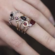 betrothal ring betrothal ruby silver ring regalrose