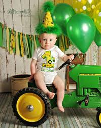 reserved john deere inspired birthday shirt hat and banner
