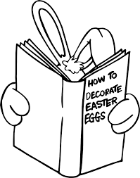 easter bunny book printable easter coloring page easter bunny reading book