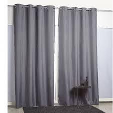 rideaux cuisine gifi rideau à oeillets thermique gris foncé textile déco décoration