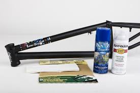 diy how to paint a frame ride bmx