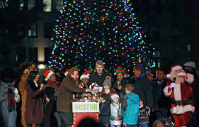 boston christmas tree lighting 2017 annual boston holiday tree lighting ceremony pictures getty images