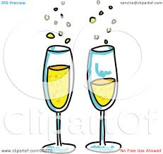 champagne clipart royalty free rf clipart illustration of two bubbly glasses of