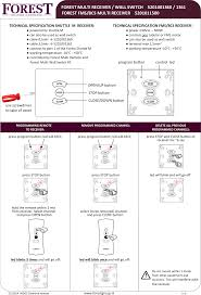 Forest Group Drapery Hardware 520109x46x Forest Diamond Rf Remote User Manual Users Manual
