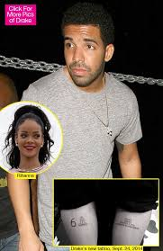 drake u0026 rihanna is his new tattoo an announcement that they u0027re