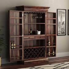 Furniture Wine Bar Cabinet Rustic Solid Wood Wine Bar Cabinet