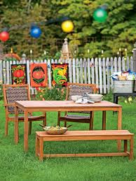 Wood Patio Dining Set - wood patio table patio dining table with 2 benches outdoor dining