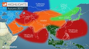 Monsoon Asia Map 2017 Asia Autumn Forecast Drought To Ease In Southern India