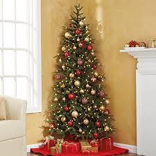 half christmas tree pre lit fraser fir corner artificial christmas tree celestial lights