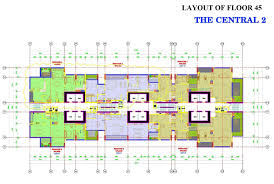 layout of penthouses and duplexes in vinhomes central park