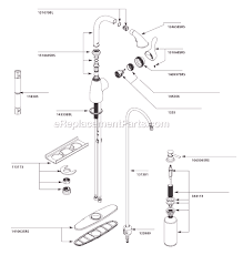 moen kitchen sink faucet parts moen ca87054srs parts list and diagram ereplacementparts