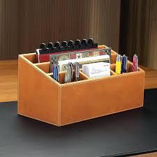 Desk Set Organizer Leather Desk Set Brown Leather Desk Accessories Leather Desk