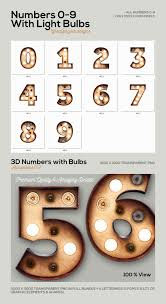 marquee numbers with lights marquee light bulbs 3d numbers deeezy freebies with extended license