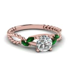 gold emerald engagement rings 18k gold marquise shaped green emerald engagement rings