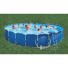 Intex Inflatable Swimming Pool Intex Metal Frame Pool 24 Ft X 52 In By Intex At Mills Fleet Farm