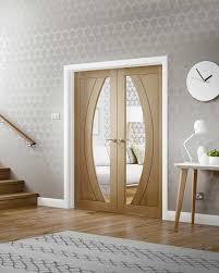 internal door pairs oak hardwood interior pairs glazed doors