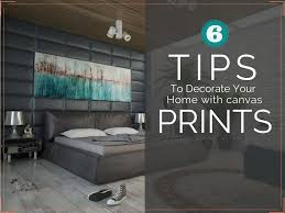 how to decorate your home with canvas prints decorating on a budget