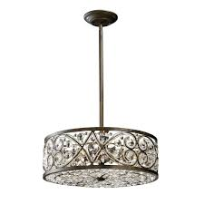 Drum Pendant Light Pendant Lamp Extraordinary Crystal Drum Pendant Lighting House