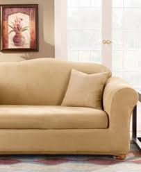 Sure Fit 3 Piece Sofa Slipcover by Sure Fit Stretch Suede Box Cushion Sofa Slipcover Slipcovers
